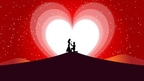 Abstract background ,Love Valentine and wedding Heart Moon royalty free illustration