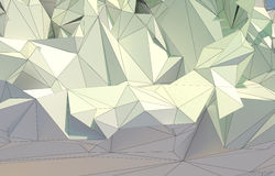 Abstract background, low poly fractal. Low poly 3d fractal landscape vector illustration