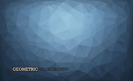 Abstract background low poly style grey and dark blue. Geometric stock illustration