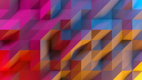 Abstract background of low poly triangles. 3D render image. stock video footage