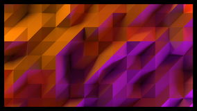 Abstract background of low poly triangles. 3D render image. stock footage