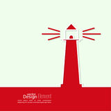 Abstract background with  luminous lighthouse Stock Photos