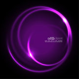 Abstract background with luminous swirling. Backdrop. Intersection curves. Glowing spiral. The energy flow tunnel. Vector. purple, violet Stock Images