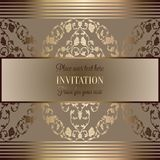 Abstract background with luxury vintage frame Royalty Free Stock Photo
