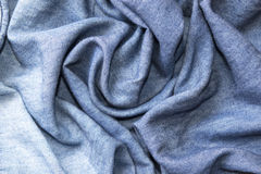 Abstract background luxury  circle flower wave or wavy folds of jeans texture Royalty Free Stock Images