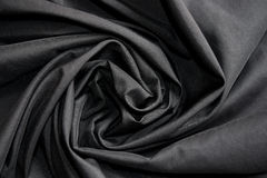 Abstract background luxury cloth or circle flower wave or wavy folds of black cloth texture Royalty Free Stock Image