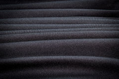 Abstract background luxury  Stripes wave of black fabric texture Stock Image