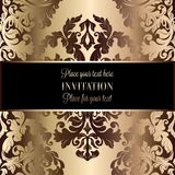 Abstract background with luxury vintage frame Royalty Free Stock Photos
