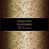Abstract background with luxury vintage frame Royalty Free Stock Images