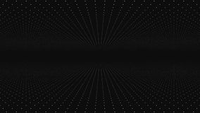 Abstract background made of array of points. Moving through abstract fractal point matrix lattice. Fly into geometric. Point structure. Abstract futuristic vector illustration