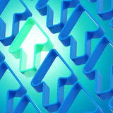 Abstract background made of arrows. Abstract background made of blue shiny arrows Stock Photography