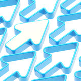 Abstract background made of arrows. Abstract background made of blue shiny arrows Stock Photo