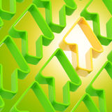 Abstract background made of arrows. Abstract background made of green and yellow shiny arrows Stock Illustration