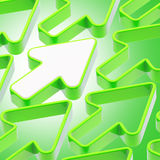 Abstract background made of arrows. Abstract background made of green shiny arrows Vector Illustration