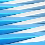 Abstract background made of blocks. Abstract background composition made of plank-shaped glossy blue and metal blocks stock illustration