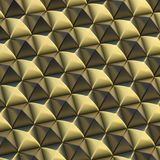 Abstract background made of blocks. Abstract background made of surface covered with black and golden square shaped pyramid blocks stock illustration