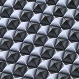 Abstract background made of blocks. Abstract background made of surface covered with black and silver square shaped pyramid blocks royalty free illustration