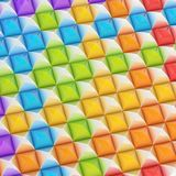 Abstract background made of blocks. Abstract background made of surface covered with colorful square shaped pyramid blocks among silver ones royalty free illustration