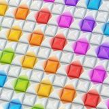 Abstract background made of blocks. Abstract background made of surface covered with colorful square shaped pyramid blocks among silver ones Stock Illustration