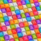 Abstract background made of blocks. Abstract background made of surface covered with colorful square shaped pyramid blocks among silver ones vector illustration