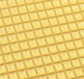 Abstract background made of blocks. Abstract background made of surface covered with golden square shaped pyramid blocks Royalty Free Illustration