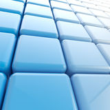 Abstract background made of blue cubes. Abstract background made of blue glossy plastic cubes Royalty Free Stock Photo