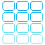 Abstract background made of blue squares Stock Photography