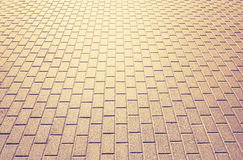 Abstract background made of brick pavement Stock Photography