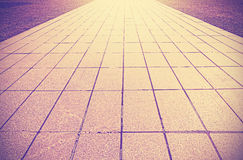Abstract background made of brick pavement. Royalty Free Stock Photos
