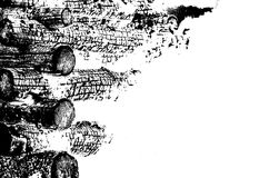 Abstract background made of burned logs with detailed graphic structure. Black and white. Abstract background made of burned logs with detailed graphic Royalty Free Stock Images