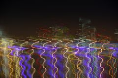 Abstract background made of Christmas lights with long exposure. Image for background or photo manipulation. S Stock Photo