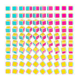 Abstract background made of CMYK cubes. Gradient isolated on white Vector Illustration