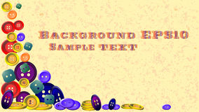 Abstract background. Background made of colorful buttons royalty free illustration
