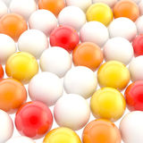 Abstract background made of colorful glossy spheres Stock Photos