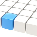 Abstract background made of cubes. Abstract background made of glossy white and blue cubes Stock Illustration