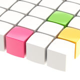 Abstract background made of cubes. Abstract background made of colorful glossy cubes Stock Images