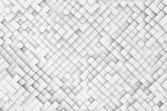 Abstract background made of cubes. 3d illustration Royalty Free Stock Photos