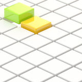 Abstract background made of cubes. Abstract background made of white, green, yellow glossy cubes Royalty Free Stock Images