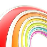 Abstract background made of curved arch. Abstract copyspace background made of rainbow colored curved arch on white Stock Images