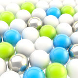 Abstract background made of glossy colorful spheres Royalty Free Stock Photos