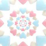 Abstract background made of glossy hearts. Abstract light background made of pink and blue glossy hearts Vector Illustration