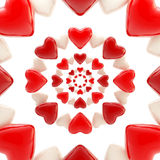 Abstract background made of glossy hearts. Abstract background made of red and white glossy hearts Stock Illustration