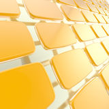 Abstract background made of glossy plates Stock Image