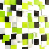 Abstract background made of glossy square plates Stock Images