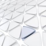 Abstract background made of glossy triangles Stock Photo