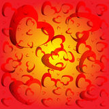 Abstract background made from hearts. Abstract background made from red hearts Royalty Free Stock Photo