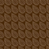 Abstract background made from leaves on brown. Stock Photos