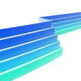 Abstract background made of multiple dimensional tapes. Abstract background made of glossy blue multiple dimensional tape stripes over white background stock illustration