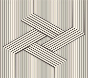 Abstract background made in . Optical illusion of crossing stripes.Black and white line art Stock Image