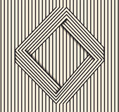 Abstract background made in . Optical illusion rhombus.Black and white line art Stock Photos